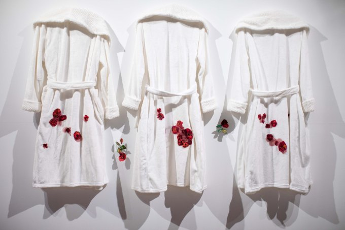 Embroidered Flannel Robes by Anne Marie Hadcock